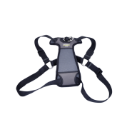 "Walk Right Front-Connect Padded Harness 27""-43"" Black XL"