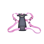 "Walk Right Front-Connect Padded Harness 27""-43"" Pink XL"