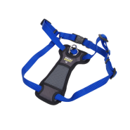 "Walk Right Front-Connect Padded Harness 20""-30"" Blue Med"