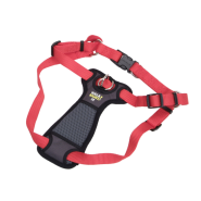 "Walk Right Front-Connect Padded Harness 20""-30"" Red Med"
