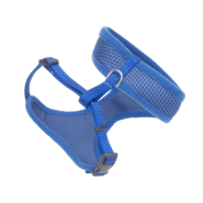 "ComfortSoft Wrap Adj Cat Mesh Harness 3/8x14-16"" Blue"