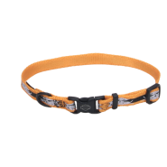 "HD Adj Nyl Collar 3/8""x12"" Orange Bar Flames"