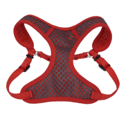 "Comfort Soft Sport Wrap Adj Harness 3/8x14-16"" Grey/Red"