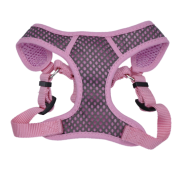 "Comfort Soft Sport Wrap Adj Harness 5/8x16-18"" Grey/Pink"