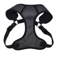 "Comfort Soft Sport Wrap Adj Harness 5/8x19-23"" Grey/Black"