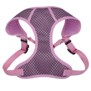 "Comfort Soft Sport Wrap Adj Harness 5/8x19-23"" Grey/Pink"