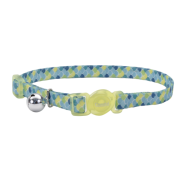 Safe Cat Breakaway Collar Lime Teal 3/8x12""