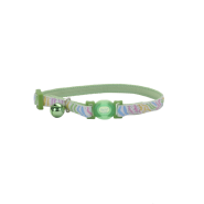 Safe Cat Glow in the Dark Adj. Collar Green Stripe 8-12""