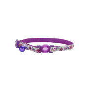Safe Cat Glow in the Dark Adj. Collar Butterfly 8-12""