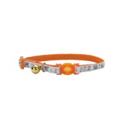 Safe Cat Glow in the Dark Adj. Collar Orange Cat 8-12""
