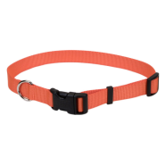 "Tuff Buckle Adjustable Nylon Collar 5/8x10-14"" Orange"