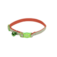 "SafeCat Adj Bkwy Suede Cat Collar 12"" Orange"