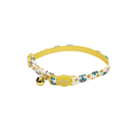"SafeCat Adj Bkwy ""Flower Frenzy"" Cat Collar 12"" Yellow"