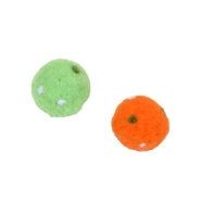 "Rascals Cat Handcrafted Wool 1.5"" Polka Dot Balls - 2 Pack"