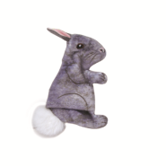 Life-like Cat Toys Grey Rabbit