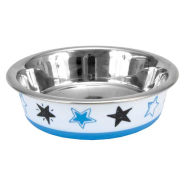 Maslow Design Cat Bowl Stars Blue & White 06 oz