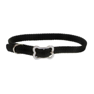 Sunburst Collar w/Bone Buckle Black 3/8x12""