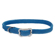 Sunburst Collar w/Bone Buckle Blue Lagoon 3/8x12""