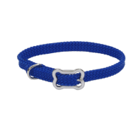 Sunburst Collar w/Bone Buckle Blue 3/8x10""
