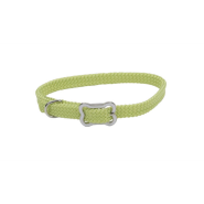Sunburst Collar w/Bone Buckle Lime 3/8x12""