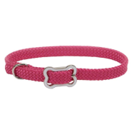 Sunburst Collar w/Bone Buckle Pink Flamingo 3/8x12""