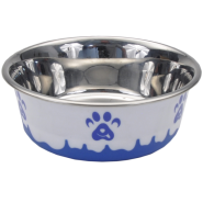 Maslow Design Bowl Paw Blue/White 13 oz