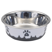 Maslow Design Bowl Paw Grey/White 13 oz