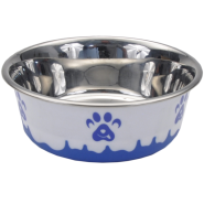 Maslow Design Bowl Paw Blue/White 28 oz