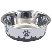 Maslow Design Bowl Paw Grey/White 28 oz