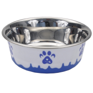 Maslow Design Bowl Paw Blue/White 54 oz