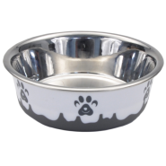 Maslow Design Bowl Paw Grey/White 54 oz