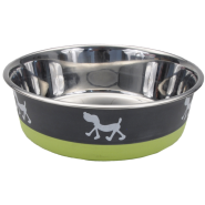 Maslow Design Bowl Pup Green/Grey 13 oz