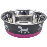 Maslow Design Bowl Pup Pink/Gray 13 oz