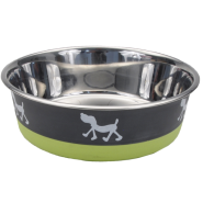 Maslow Design Bowl Pup Green/Grey 28 oz