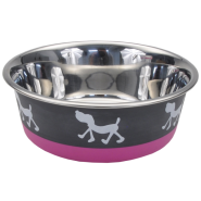 Maslow Design Bowl Pup Pink/Gray 54 oz