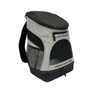 Life is Good Backpack Carrier Heather Grey 11.5Lx9Wx17.5H