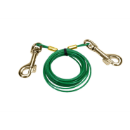 Titan Puppy Tie Out Cable w/Titan Brass Plate Snaps