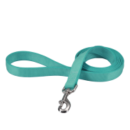 "Coastal Double-Ply Leash Teal 1""x6"