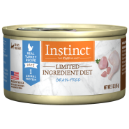 Instinct Cat GF LID Cans CageFree Turkey 24/3 oz