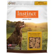 Instinct Biscuits GF Dog Treats Chicken & Cranberries 10 oz