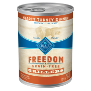 Blue Freedom GF Dog Grillers Turkey 12/12.5 oz
