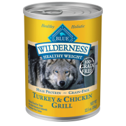 Blue Wilderness Dog Healthy Wt GF Trky&Ckn 12/12.5 oz
