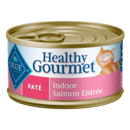 Blue Cat Pate Adult Indoor Salmon Entree 24/3 oz