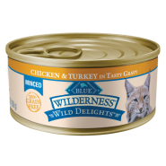 Blue Wilderness Cat Minced Adult Chicken & Turkey 24/5.5 oz