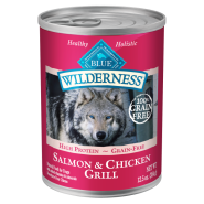 Blue Wilderness Dog GF Salmon & Chicken 12/12.5 oz