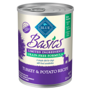 Blue Basics LID GF Dog Turkey 12/12.5 oz
