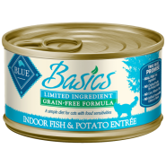Blue Basics LID GF Cat Fish & Potato Entree 24/3 oz