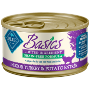 Blue Basics LID GF Cat Turkey & Potato Entree 24/3 oz