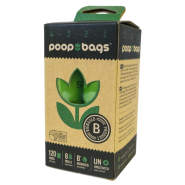 Original PoopBags USDA Cert Biobased Cnt Down Rolls 8/120 ct