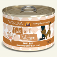 Cats in Kitchen Fowl Ball 24/6 oz